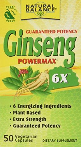 Natural Balance 2000 mg Ginseng Powermax 6 x suplemento herbario, cuenta 50