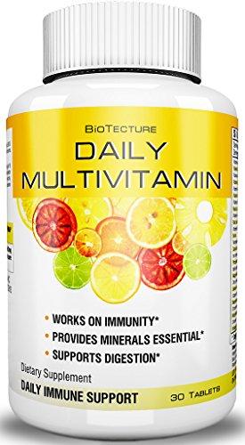 Tabletas de multivitamínicas diario - mejor fórmula de suplemento dietético! Ayuda al sistema inmunológico, proporciona minerales esenciales, apoya la digestión. Combinación de vitamina número uno! Garantía de devolución de dinero!