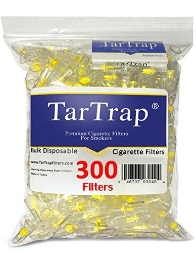 Filtros para cigarrillos desechables TarTrap - paquete de economía a granel (300 por paquete)