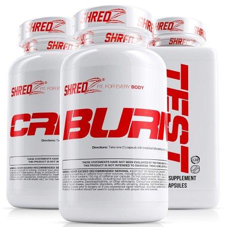 shredz Combo de Suplementos Para Machos alfa para construir músculo y quemar la grasa 3 Productos