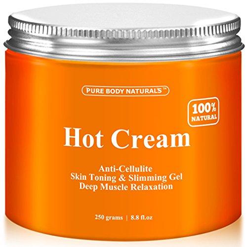Crema de la celulitis y la relajación muscular crema enorme 8.8 oz, 100% Natural 87% orgánico - Anti celulitis Gel caliente crema de tratamiento, empresas piel, adelgaza y reduce la apariencia grasa - músculo Rub crema, masajeador de músculo