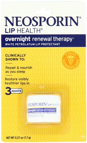 Neosporin labios salud terapia de renovación durante la noche, 0.27 onzas (paquete de 2)
