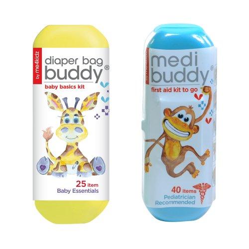 Kit de viaje de Budy Me4kidz pañal bolso con Kit de Medibuddy primeros auxilios - mono