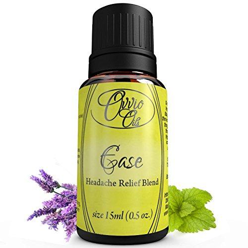 OVVIO aceites facilidad dolor de cabeza y migraña alivio aceite esencial 15 ml