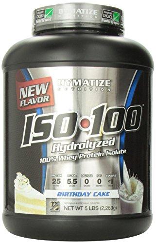 Nutrición de Dymatize ISO-100 pastel, 5 libras
