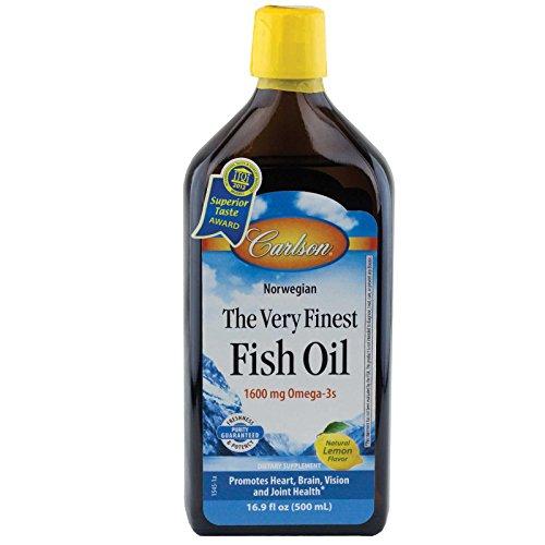 Carlson el pescado más fino del aceite líquido limón de Omega-3, 500ml