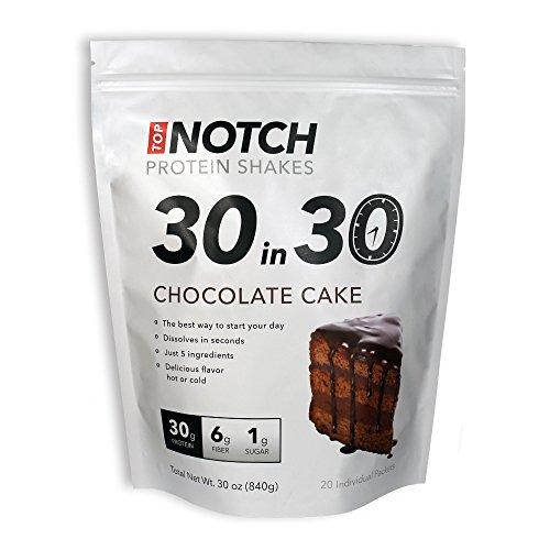 Batidos de proteínas de primera clase mercancías 30 en 30, sabor de pastel de Chocolate, 1,5 onzas (paquete de 20)