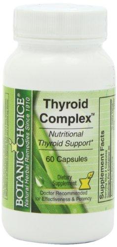 Botanic Choice tiroides cápsulas complejos, frasco de 60 cápsulas