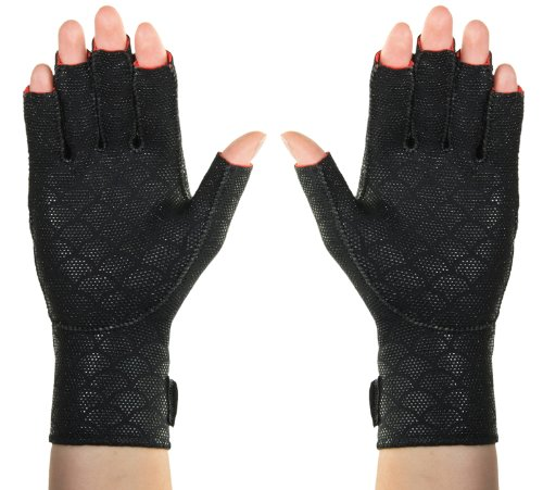 ThermoSkin Premium artritis guantes par, negro, medio