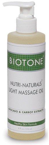 Biotone Naturals Nutri productos aceite de masaje ligero, 8 onzas