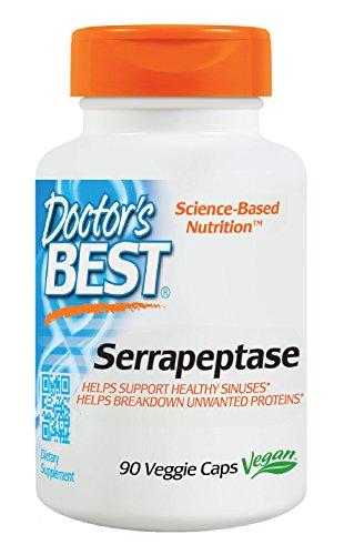 Mejor mejor Serrapeptase del doctor (40, 000 unidades), 90-cuenta