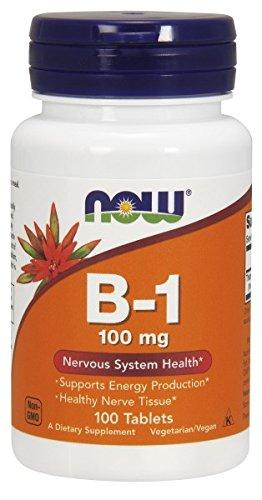 AHORA alimentos vitamina B-1 (tiamina) 100mg, 100 tabletas
