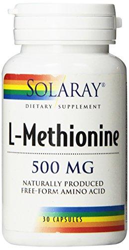 Solaray L-metionina forma libre suplemento, 500 mg, Conde 30