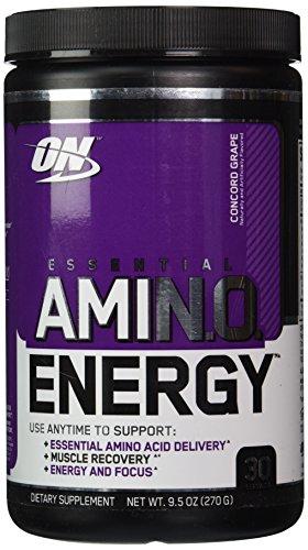 La nutrición óptima energía Amino esencial Concord Grape - 30 porciones, 9,5 oz