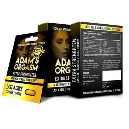 ADAMS ORGASM 100% Natural aumentar la libido masculina 5 Capsulas