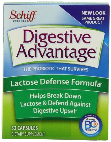Ventajas digestivas probioticos - lactosa defensa fórmula probióticos cápsulas, 32 Count (paquete de 3)