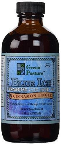 Verde pasto - hielo azul fermentado sabor de Tingle 8-oz, canela de aceite de hígado de bacalao