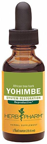 Extracto de corteza de Yohimbe hierba Pharm para soporte de sistema reproductor masculino - 1 onza