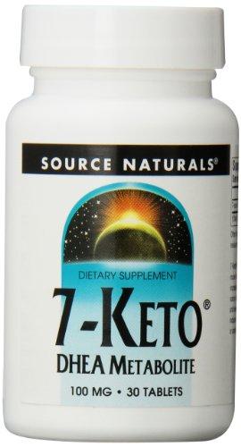 Source Naturals 7-Keto DHEA tabletas, 100 mg, 30 comprimidos