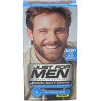 Solo para hombres cepillo en Color bigote y barba - ligero-medio marrón
