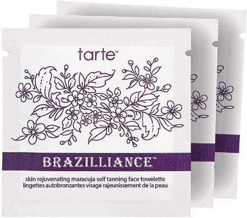 Tarta Brazilliance Piel Rejuvenating Maracuja auto bronceado cara toallitas (cuenta de 3)