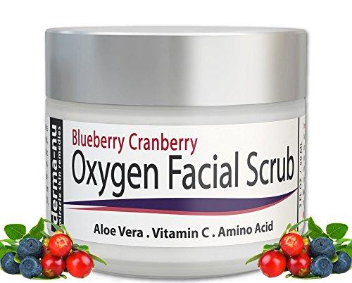 Exfoliante facial - arándano arándano Anti oxidante cara exfoliante Scrub por Derma-nu - con Aloe Vera, vitamina C y aminoácidos - 2oz