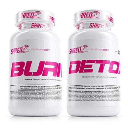 Shredz Burn y Detox 2 Productos Desintoxicador y Adelgazante