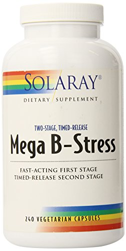 Solaray B-stress, Mega Two-Stage Timed Release, cuenta 240