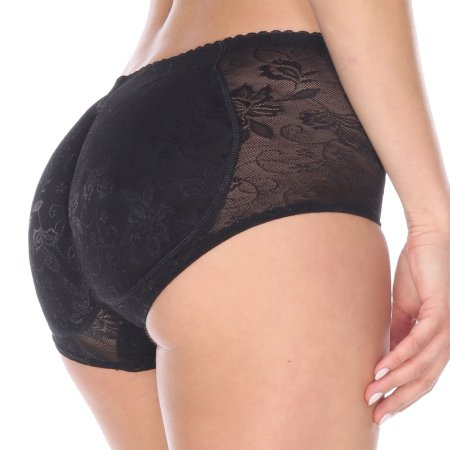 La Reve Butt Lifter acolchado Panty - Mejora de la talladora del cuerpo de las mujeres   Negro desnuda   Pequeño mediano Grande