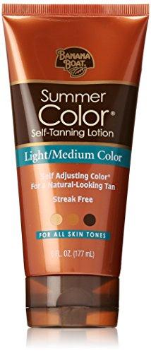 Barco de plátano loción autobronceadora de Color luz/medio verano para todos los tonos de piel - 6 onzas