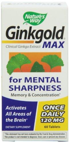 Forma Ginkgold Max de la naturaleza 120mg, 60 comprimidos