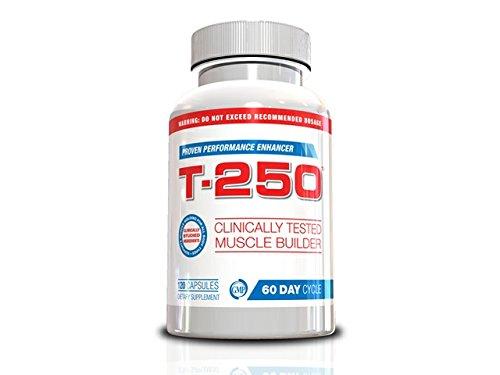 Testosterona soluciones genéticas T-250 hombres, todo en un suplemento, 120 cápsulas