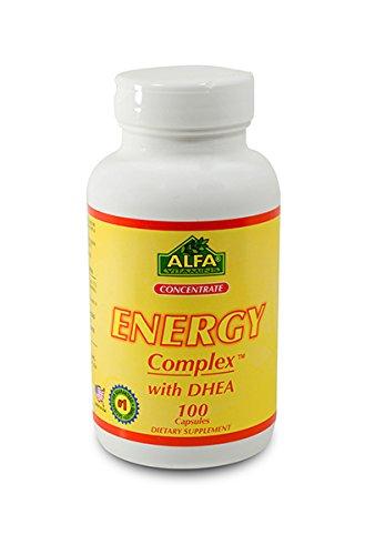 Energía compleja con Dhea 100 tapa. Soporte anti-stress. Ayuda a maximiza el rendimiento de la lucha contra la fatiga y la depresión