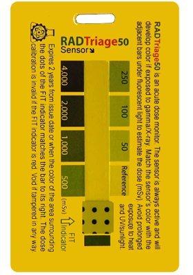 RAD Triage 50 Detector de radiación Personal para cartera o bolsillo