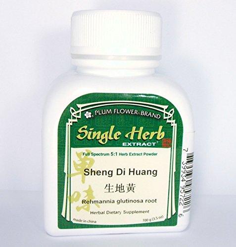 Raíz de rehmannia Glutinosa, crudo, polvo del extracto de la hierba / Sheng Di Huang, 100g o 3.5oz