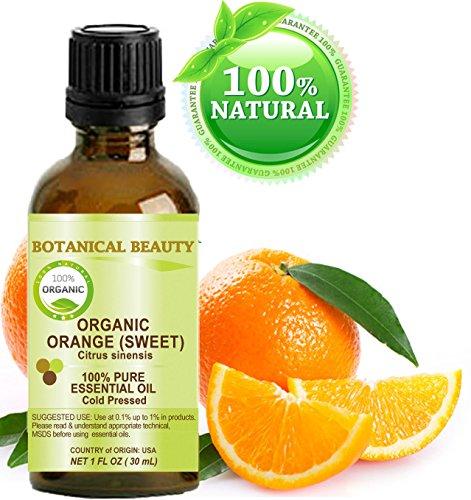 NARANJA ACEITE ESENCIAL ORGÁNICO. 100% puro grado terapéutico, calidad Premium, sin diluir. 1 Fl.oz. - 30 ml. por belleza botánica.