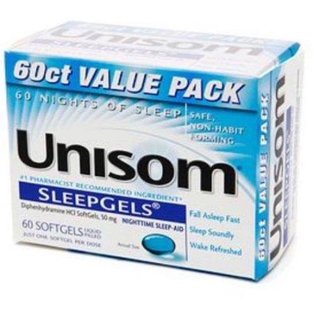 Unisom SleepGels 60 Caps (paquete de 2)