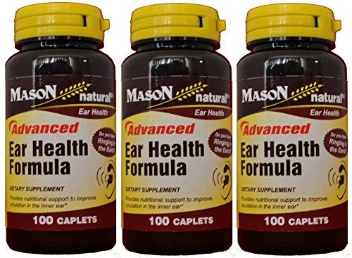 Bioflavonoides de Mason Natural avance oído salud fórmula Plus 100 cápsulas por el paquete de la botella de 3 Total 300 cápsulas
