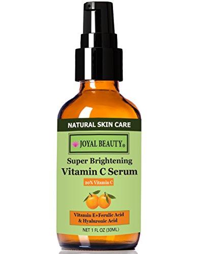 #1 los mejores el mejor suero orgánico vitamina C 20% para la cara por la belleza Joyal. Con ácido hialurónico 11% + ácido ferúlico + vitamina E + Hamamelis. Mejor para Anti envejecimiento y reparación sol daños piel reafirmante/incluso-entonado.