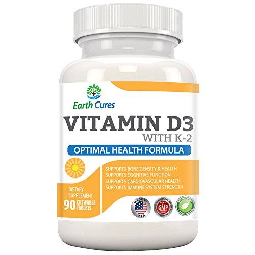 5 en 1 - vitamina D-3, K-2 - apoya la salud ósea, sistema inmunológico, Salud Cardiovascular y mejora cognitiva
