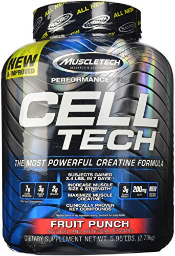 Muscletech Cell Tech Performance Series polvo, Fruit Punch, 5,95 libras