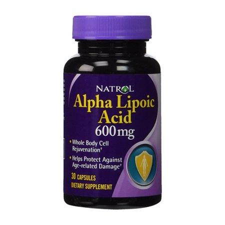 Natrol ácido alfa lipoico Cápsula de 600 mg 30 Ea