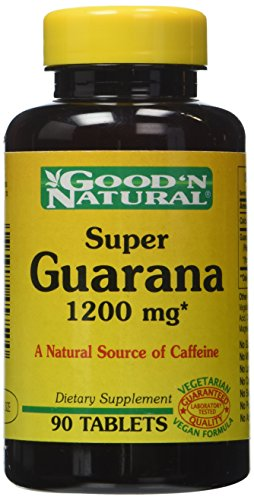 Buena y Natural, Super Guarana 1200 mg, 90 tabletas
