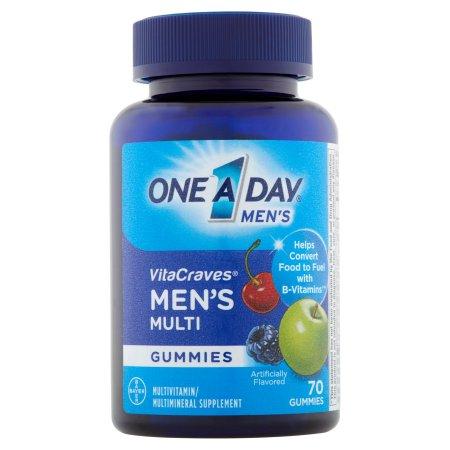 One A Day Hombres VitaCraves adultas multivitamínicos Gomitas 70 ct