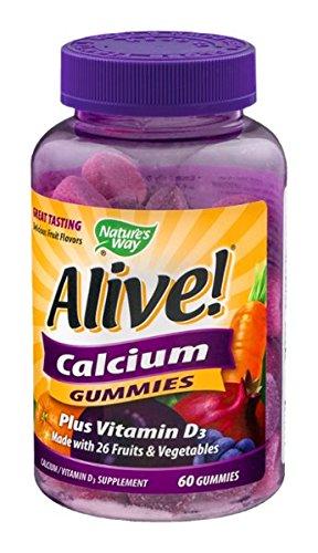 Manera de la naturaleza viva! Calcio Plus gomitas vitamina D3 - 60 CT