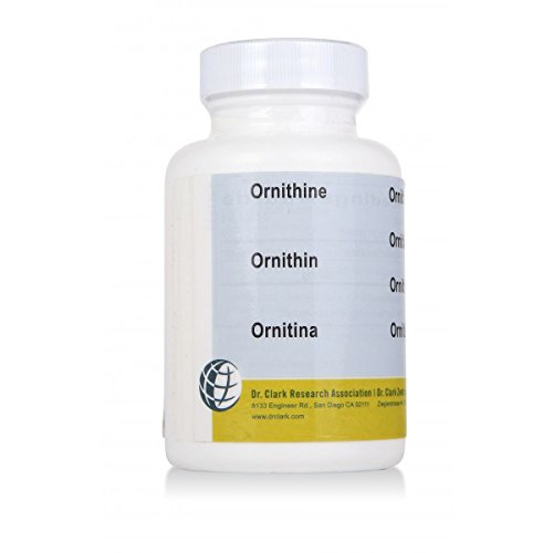 Ornitina, 500 Mg, 100 cápsulas (1 botella)