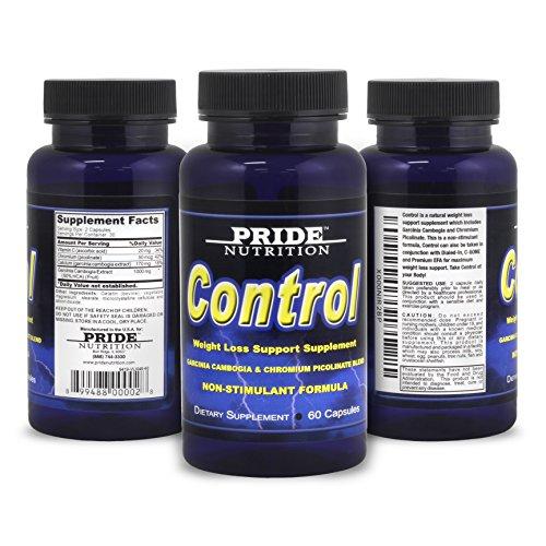 Control - supresor del apetito Natural - mejor estimulante no quemador de grasa suplemento para bajar de peso - 60 pastillas