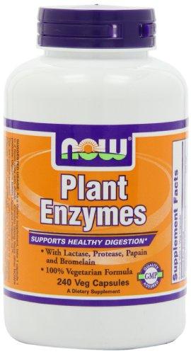 AHORA alimentos planta enzimas, 240 Vcaps