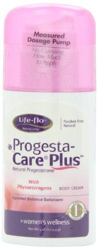 Vida-Flo Progesta-cuidado además progesterona Natural cuerpo crema, soluciones de la menopausia, con fitoestrógenos, 4 oz (113 g)