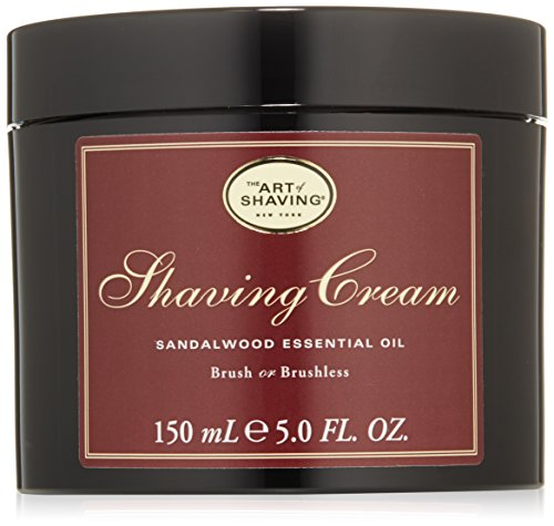 El arte de afeitar crema de afeitar, sándalo, 5 fl. oz.